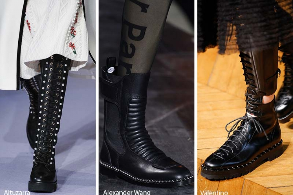 Military Boots for Combat Vibes - PFW2018