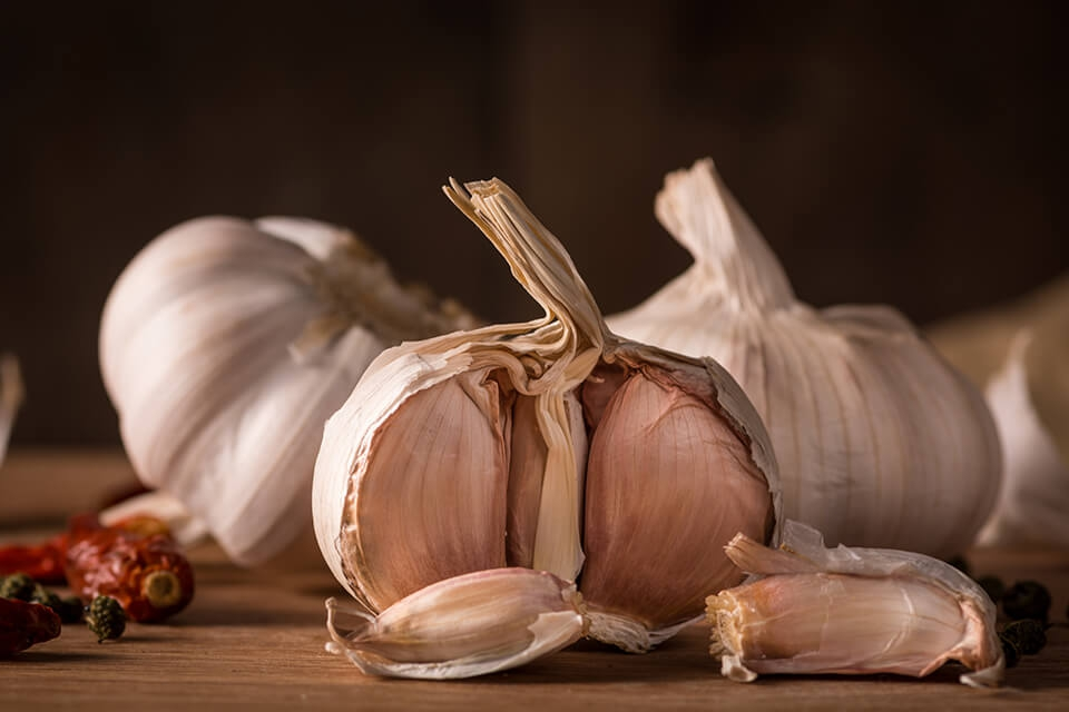 5 main healthy problems treated by Garlic