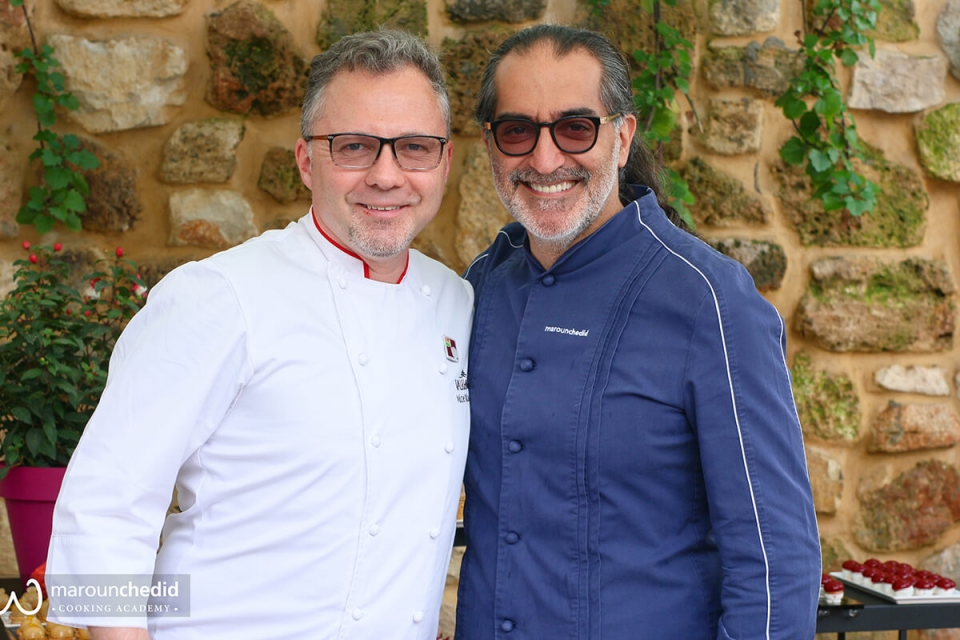 Valhrona & Les Vergers Boiron at the Maroun Chedid Cooking Academy.