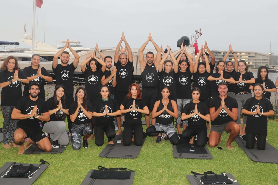 Yoga session With Adidas Runners Beirut