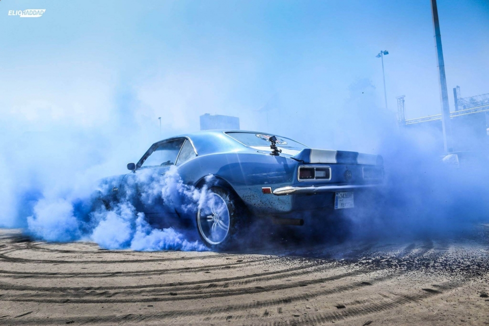 Middle East Record - Longest Single Car Burnout in Beirut, Lebanon